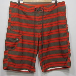 The North Face Men's Board Shorts Sz 36 Striped